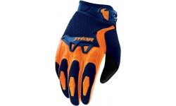 THOR YOUTH SPECTRUM S6Y SHORT CUFF GLOVES NAVY/ORANGE SMALL