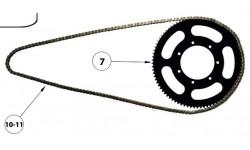 Torrot E10 Motorradkette 219, Länge 1259mm